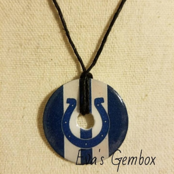 Fashion Jewelry Jewelry - 🏈$7 or 3 for $15- Colts Washer Necklace